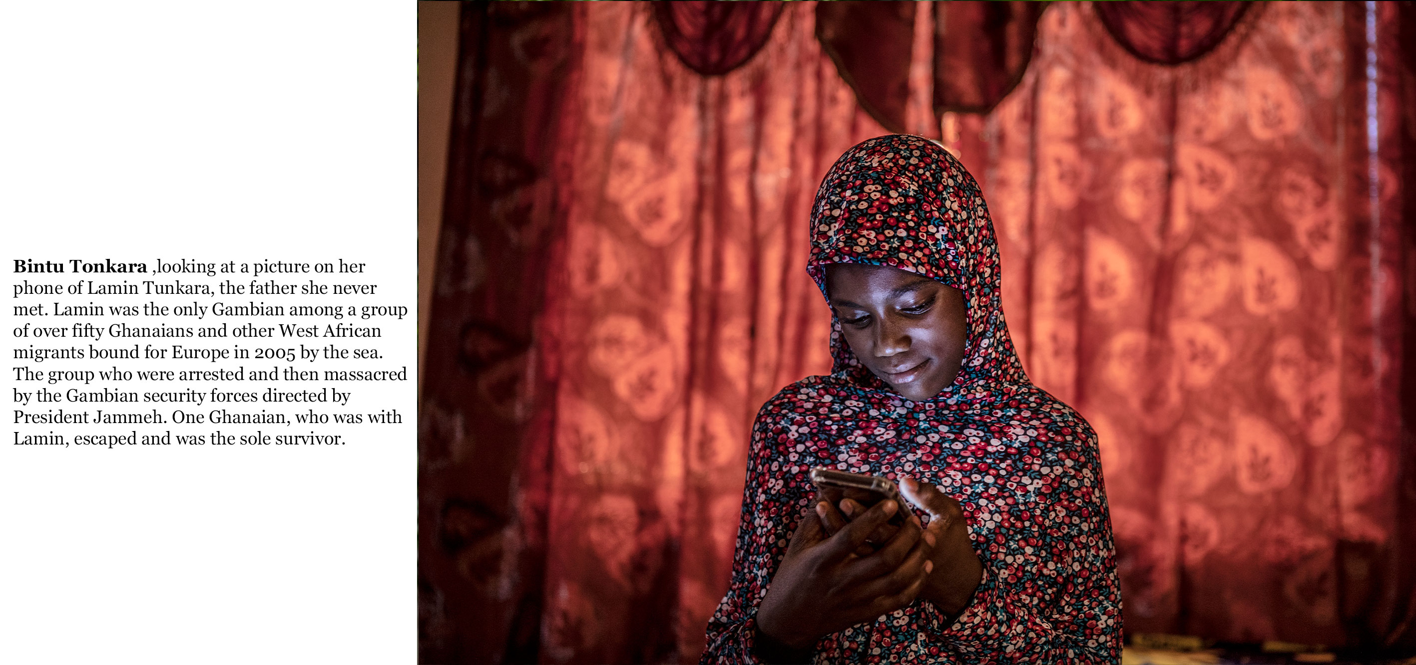 Gambia victims and resisters -Bintu_Tunkara, daughter of Lamin Tunkara who was the only Gambian amongst over 50 west african migrants murdered by Gambian security forces _2272_TEXT_web ©Jason Florio