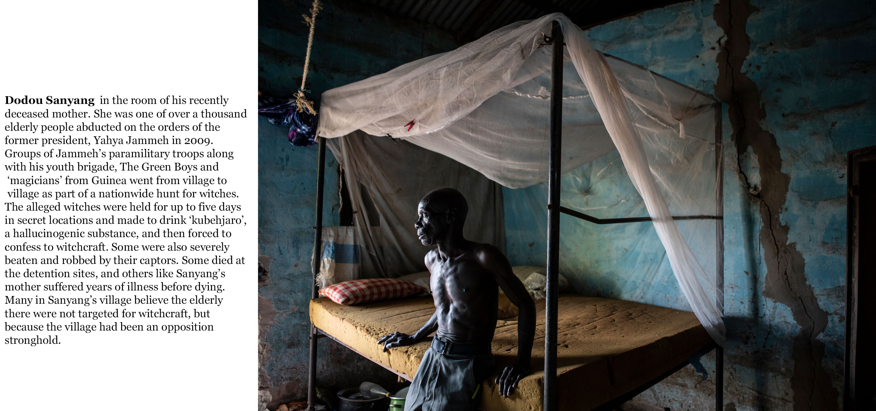 The Gambia victims and resisters -Dodou-Sanyang, witch hunts ©Jason Florio