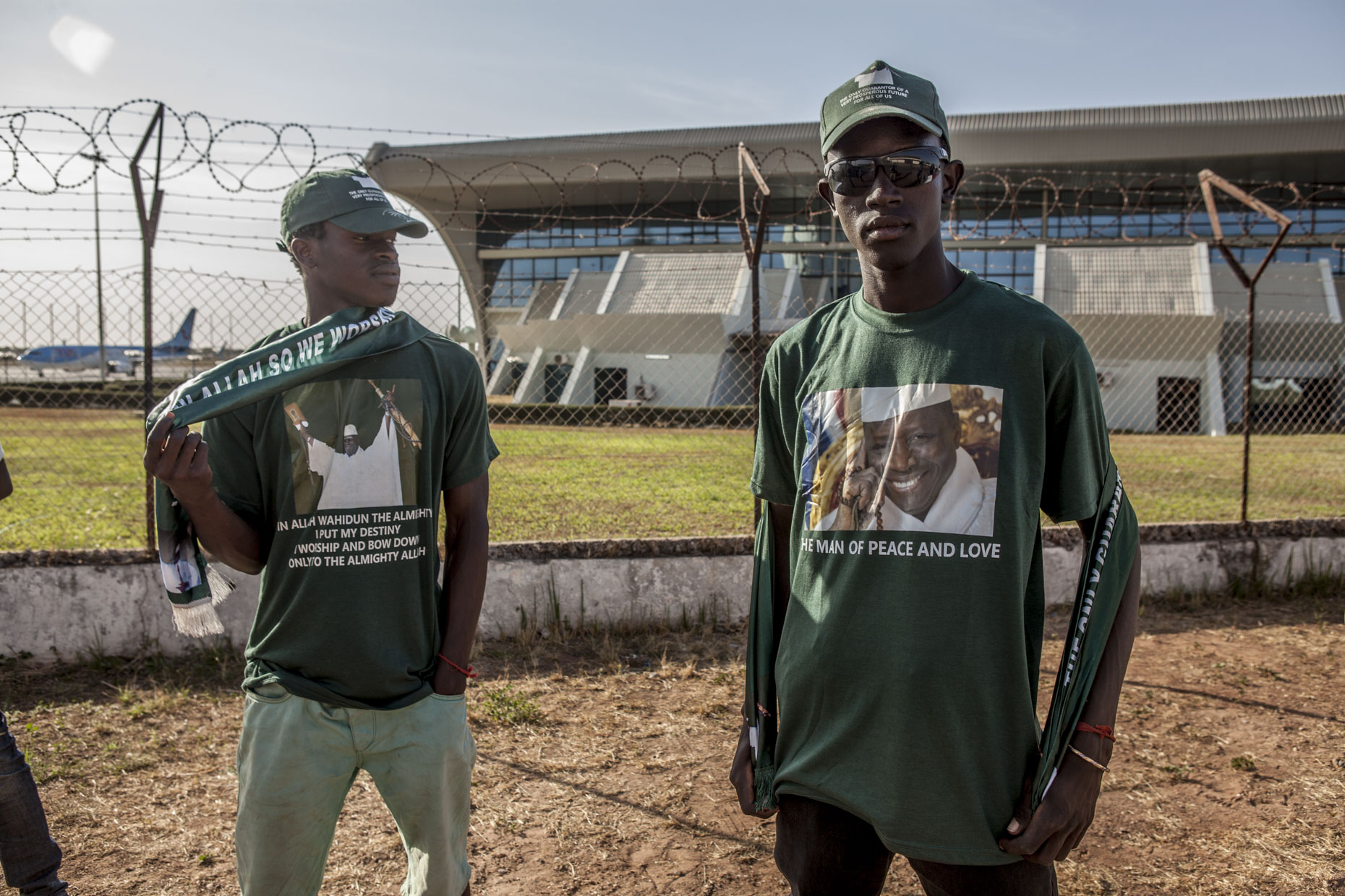 Supporters of ousted President Yahya Jammeh