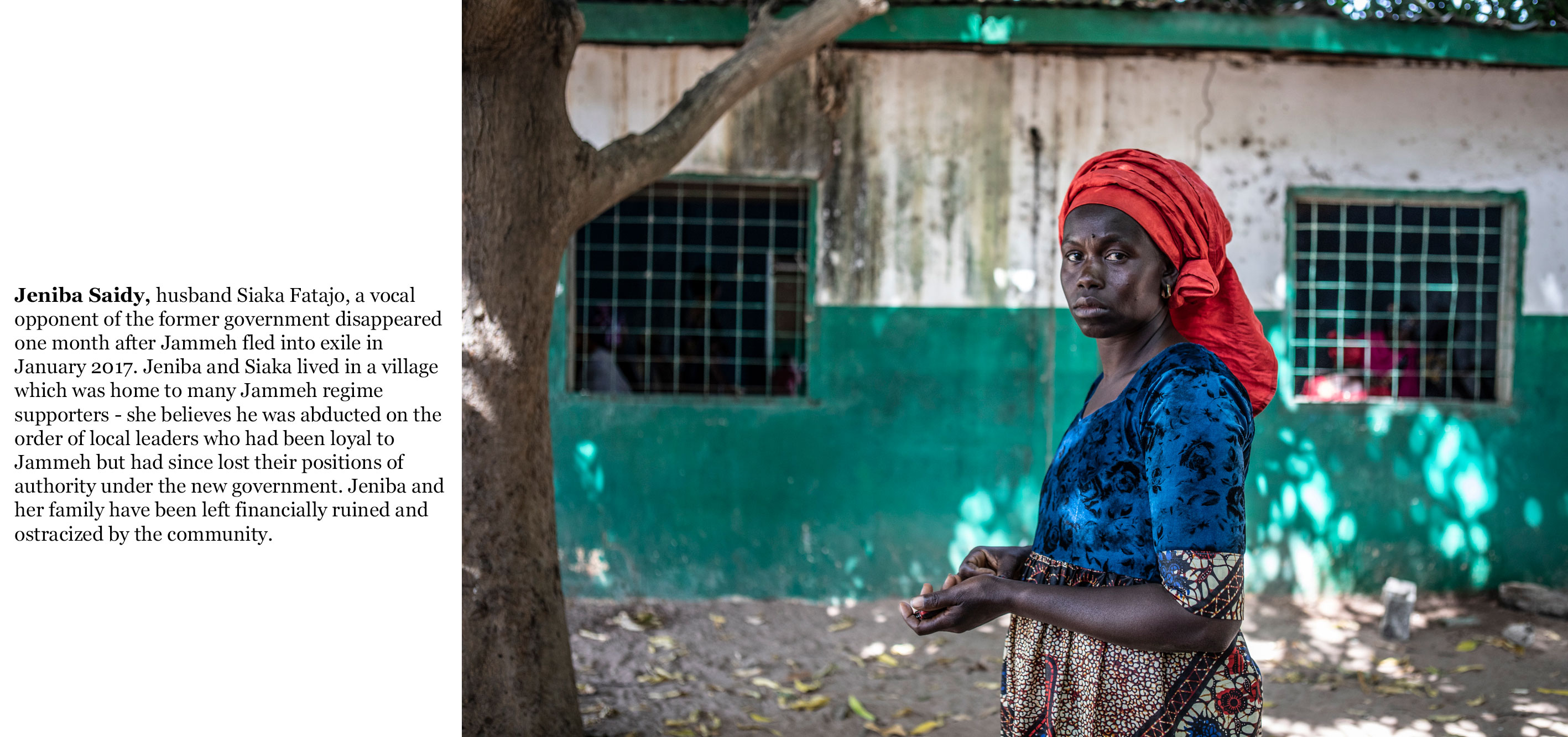 Gambia victims and resisters -Jeniba_Saidy_her husband Saika Fatajo opponent of Yahya Jammeh  disappeared after Jammeh fled into exile  a3585_TEXT_web ©Jason Florio