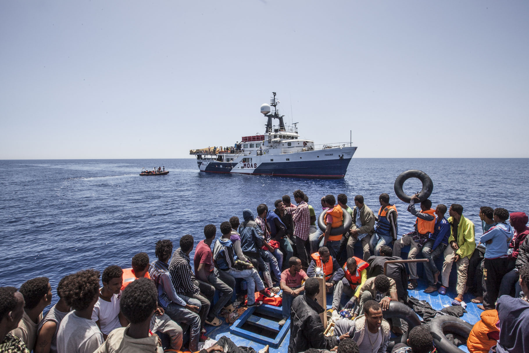 Migrant rescues in the Mediterranean sea