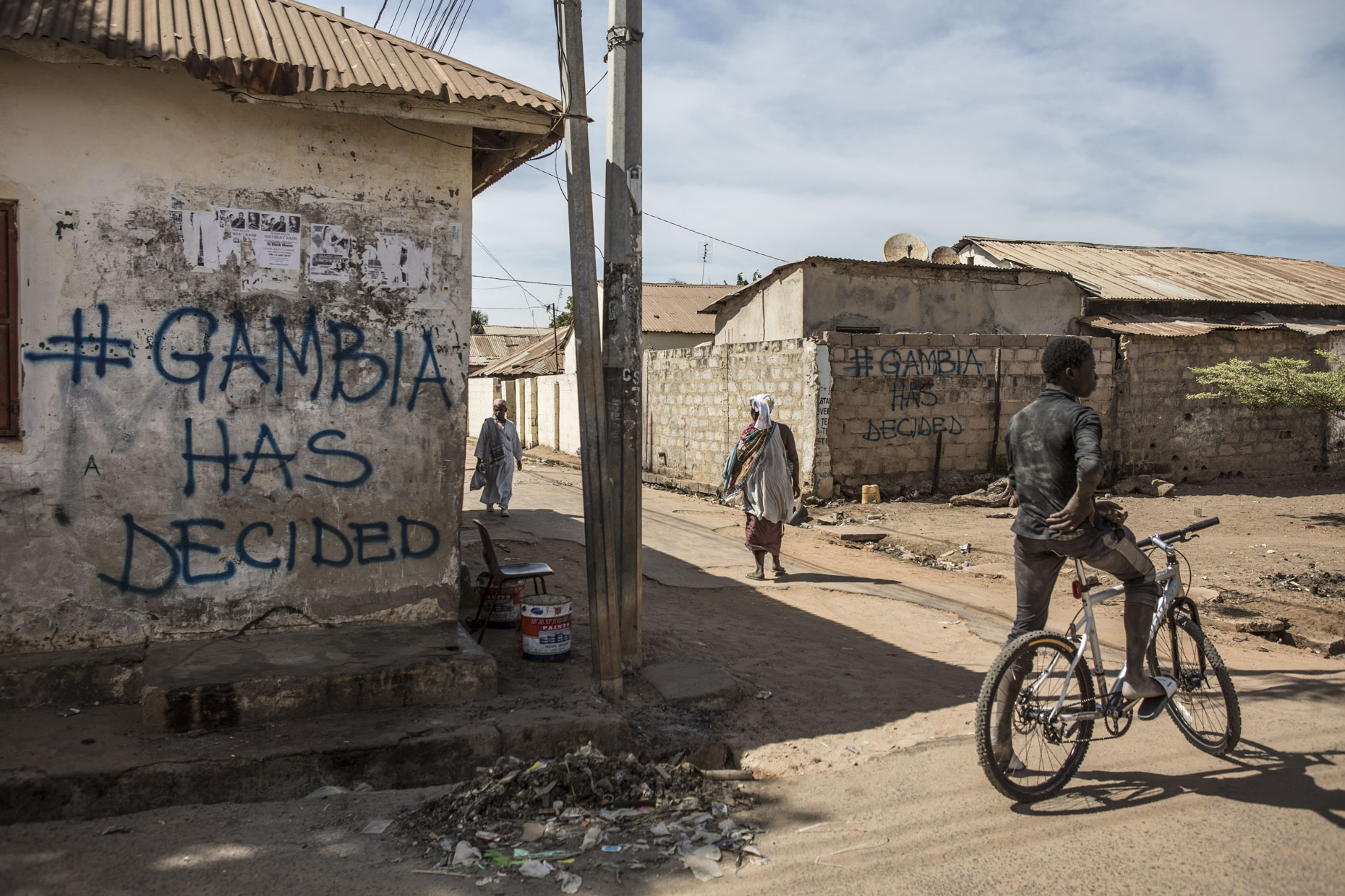 The Gambia Has Decided graffiti