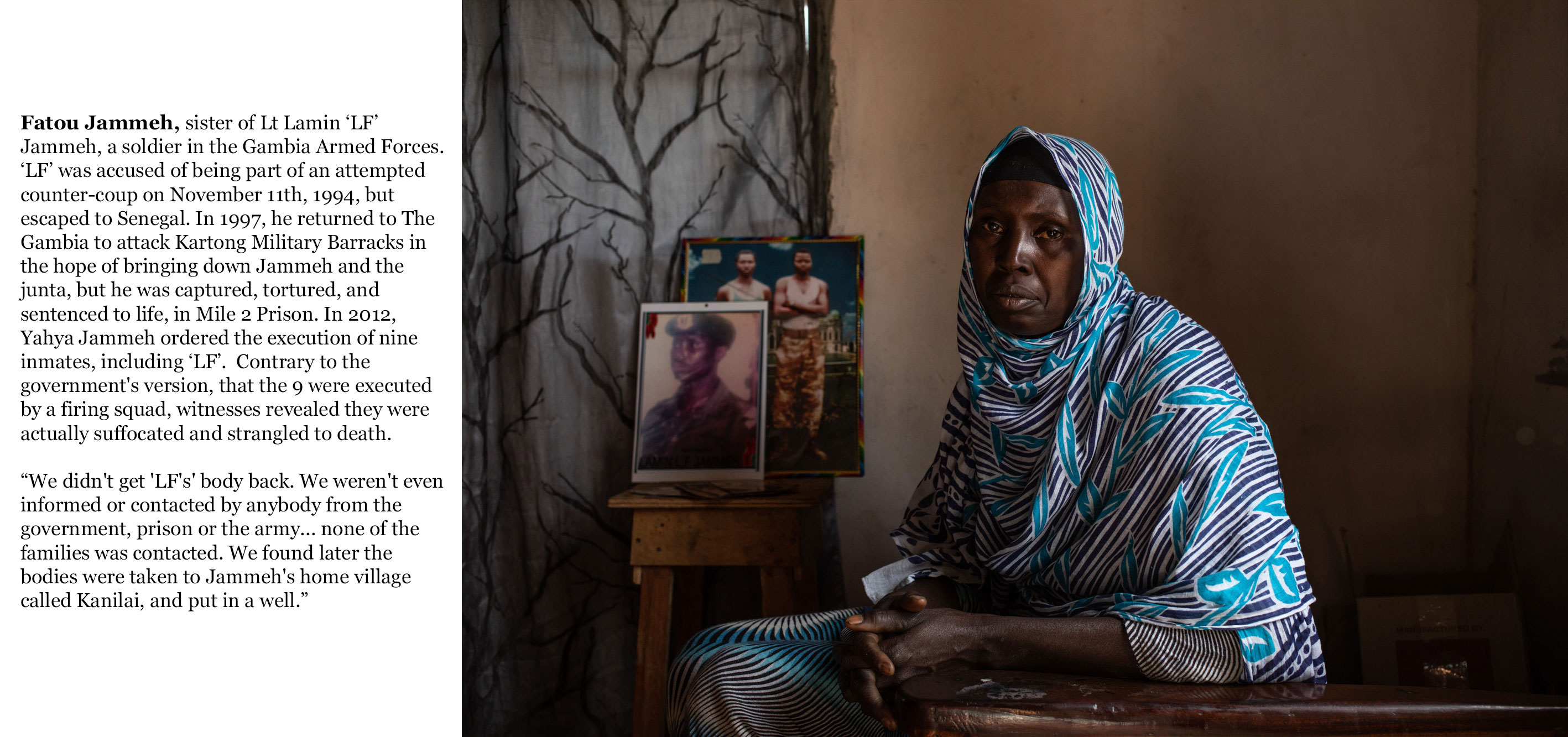Gambia victims and resisters - fatou_jammeh, sister of Lt LF Jammeh who was killed after 1994 coup attempt, -0221_TEXT_WEB