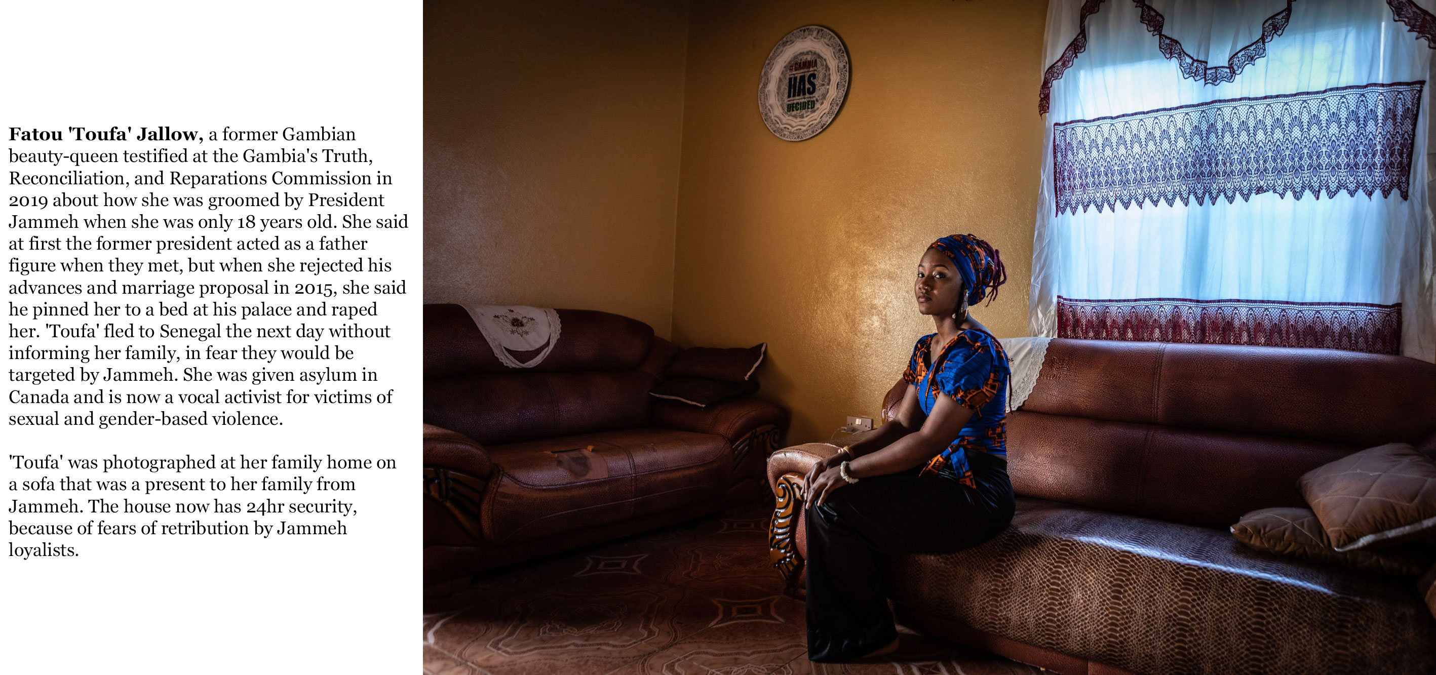 Gambia victims and resisters - rape victim fatou_toufa_jallow-8613_TEXT_WEB ©Jason Florio