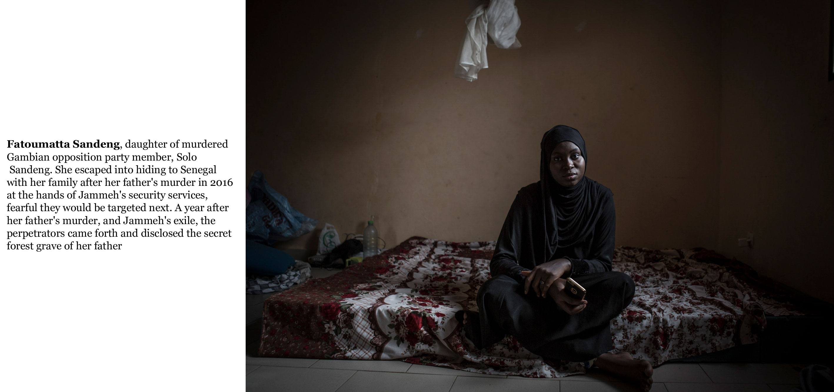 Gambia victims and resisters-Fatoumatta Sandeng, daughter of murdered opposition party member, Solo Sandeng ©Jason Florio