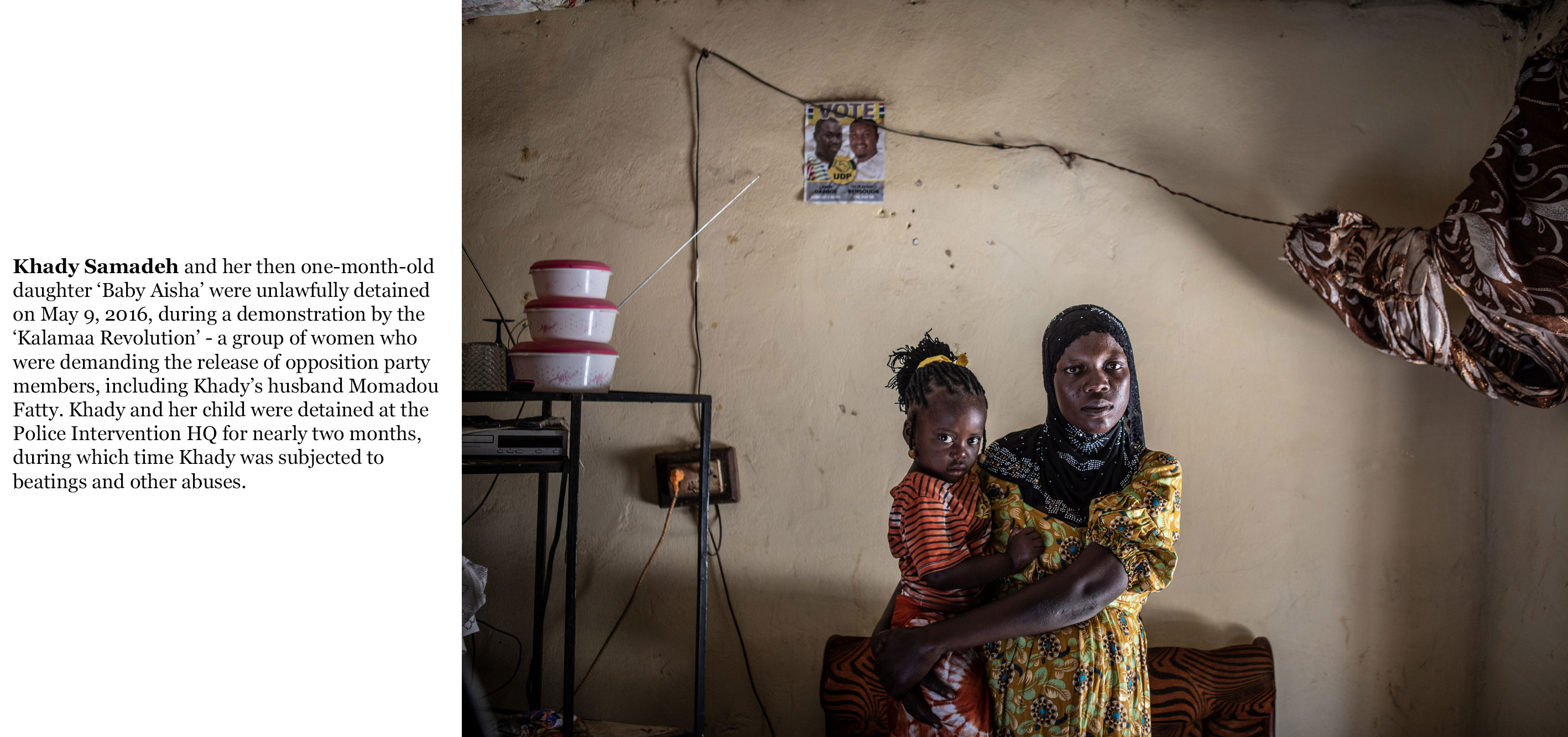 Gambia victims and resisters -khady_samedeh and baby Aisha_unlawfully detained in April 2016, part of the Kalamaa revolution 4655_TEXT_WEB ©Jason Florio